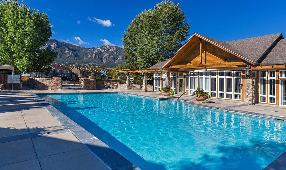 Swimming pool at  Broadmoor Ridge Apartment Homes in Colorado Springs
