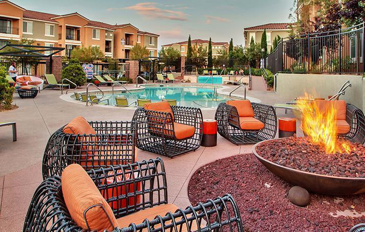 Outdoor Fire pit at Mission Rock Residential