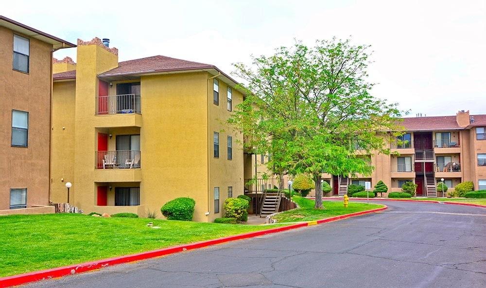 Apartment driveway in Albuquerque