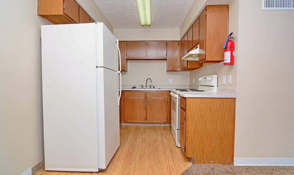 Full range kitchen at our apartments in Albuquerque