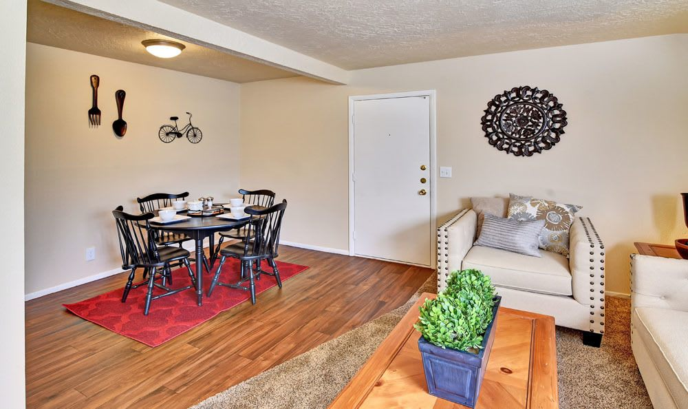 Beautiful dining room at Cherry Creek Apartments in Riverdale, Utah