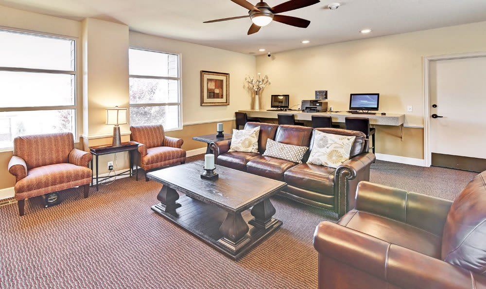 Luxury clubhouse at Cherry Creek Apartments in Riverdale, UT