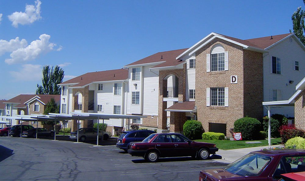 View of parking at our Bountiful apartments