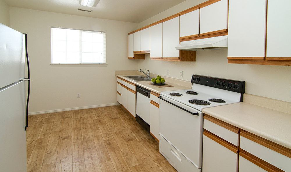 Modern kitchen in our Bountiful apartments