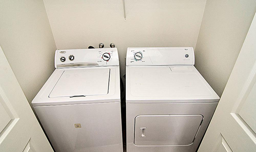 Included washer and dryer at our Bountiful apartments