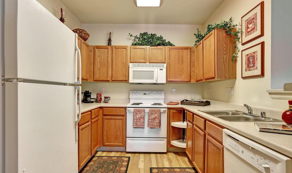 Spacious kitchen at Platte View Landing in Brighton, Colorado