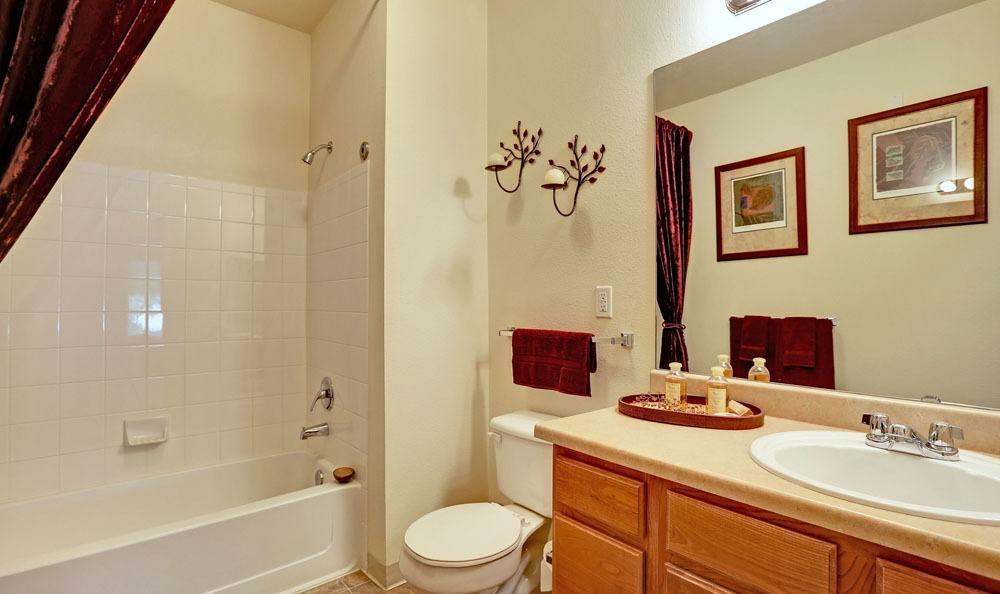 Beautiful bathroom at Platte View Landing in Brighton, Colorado