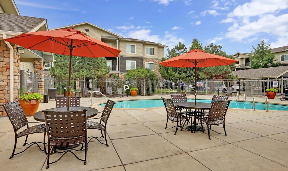 Apartments with a swimming pool that is great for entertaining in Brighton, CO