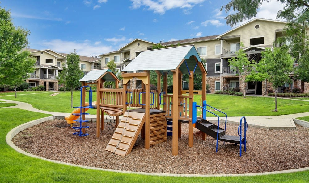Platte View Landing offers a playground in Brighton, Colorado