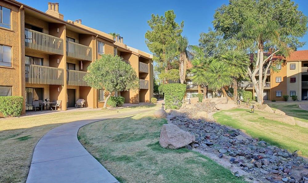 Walking paths at apartments in Phoenix, Arizona