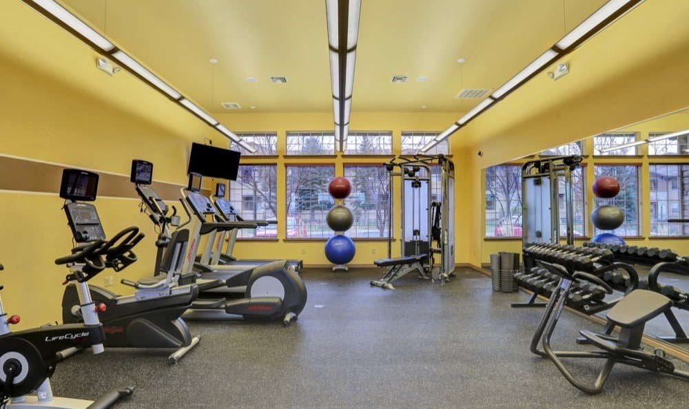 Fitness center at apartments in Colorado Springs, Colorado