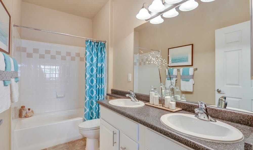 Beautiful bathroom at Resort at University Park in Colorado Springs, Colorado
