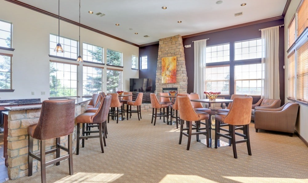 Clubhouse dining area at Resort at University Park in Colorado Springs, CO