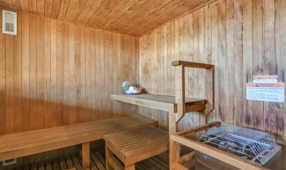 Beautiful Sauna at apartments in Colorado Springs, Colorado
