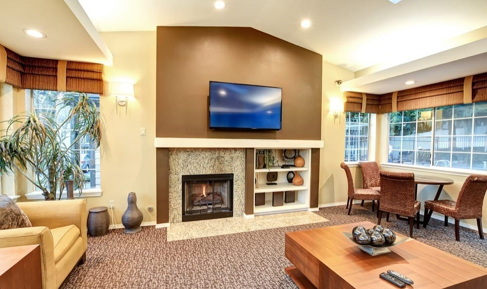 Clubhouse at apartments in Lynnwood, Washington