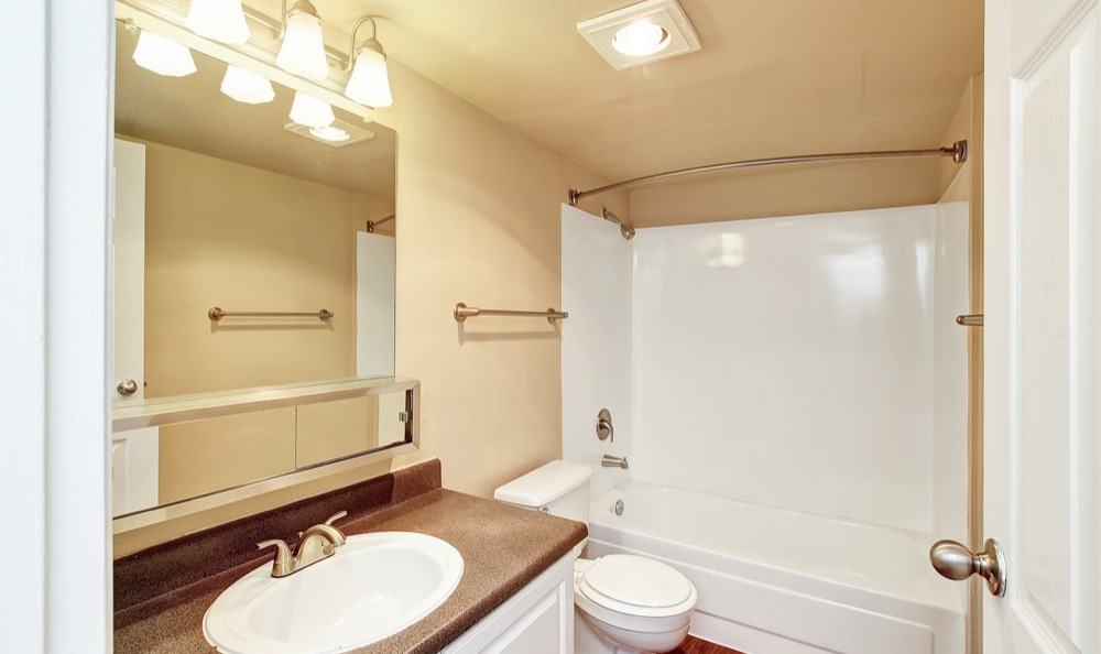 Beautiful bathroom at apartments in Lynnwood, Washington