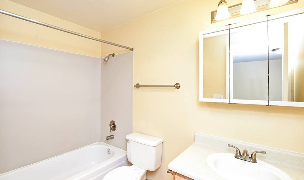 Our apartments in Lynnwood, Washington showcase a spacious bathroom