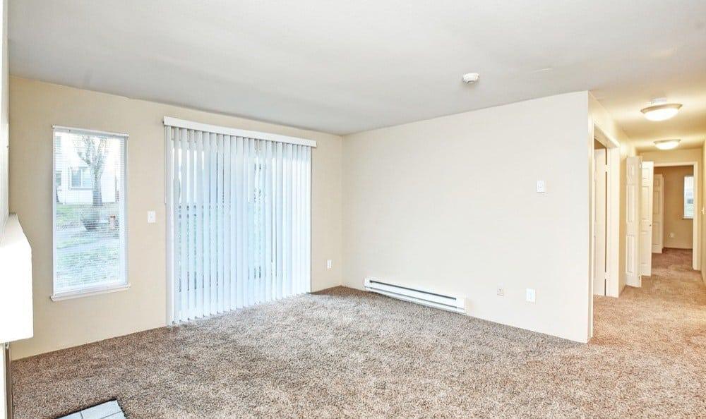 Beautiful living room at Bradford Park Apartments in Lynnwood, Washington