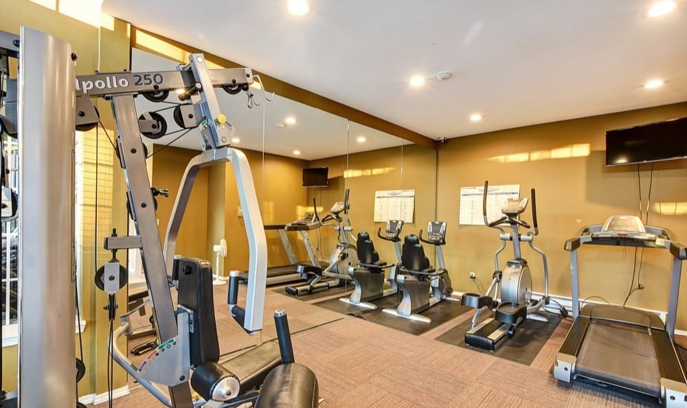 Fitness center at Bradford Park Apartments in