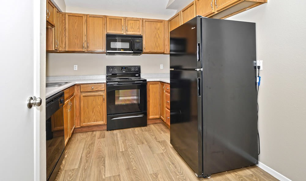 Spacious kitchen at Las Kivas Apartments in Albuquerque, New Mexico