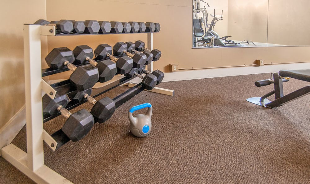 Fitness center at apartments in Boise, Idaho