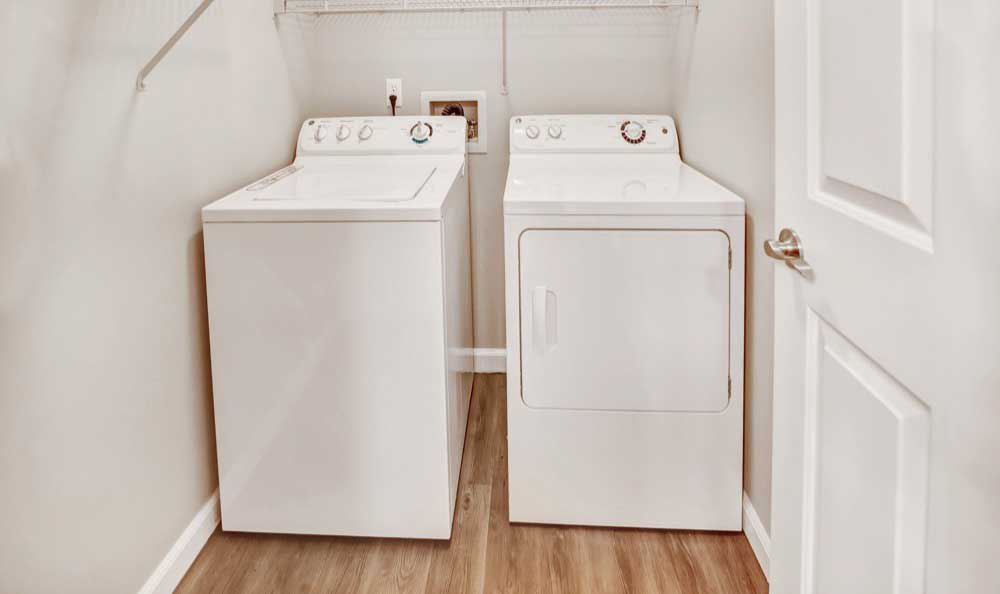 Washer and dryer at Monterra Townhomes in Boise, Idaho