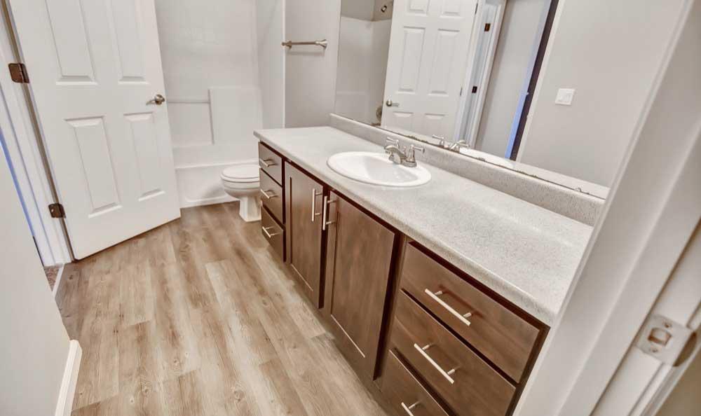 Spacious bathroom at apartments in Boise, Idaho
