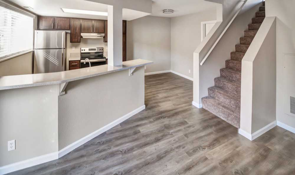 Kitchen area at Monterra Townhomes in Boise, Idaho