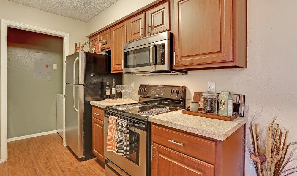 Kitchen at Mountain View Apartment Homes in Colorado Springs, Colorado