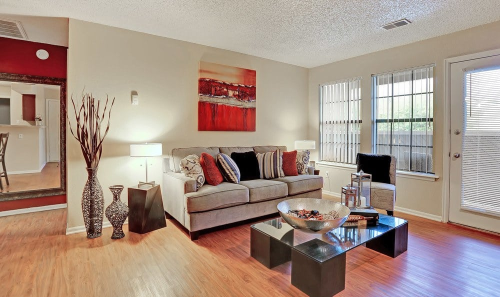 Living room at Mountain View Apartment Homes in Colorado Springs, Colorado