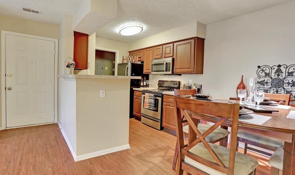 Spacious kitchen at apartments in Colorado Springs, Colorado