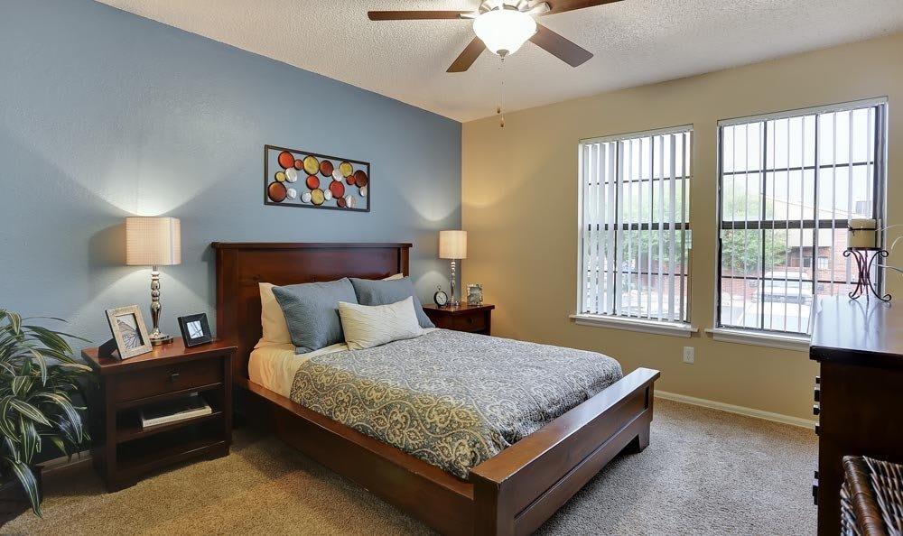 Bedroom at apartments in Colorado Springs, Colorado