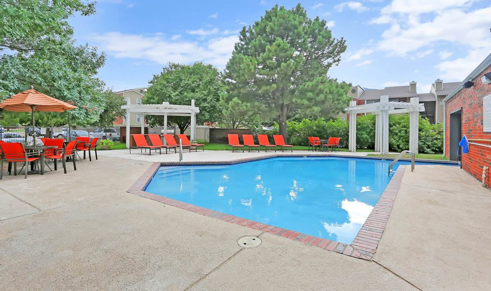 Swimming pool at Mountain View Apartment Homes in Colorado Springs, Colorado