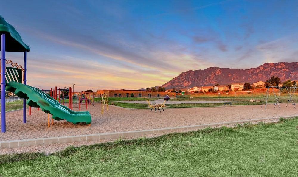 Spacious playground at apartments in Colorado Springs, Colorado