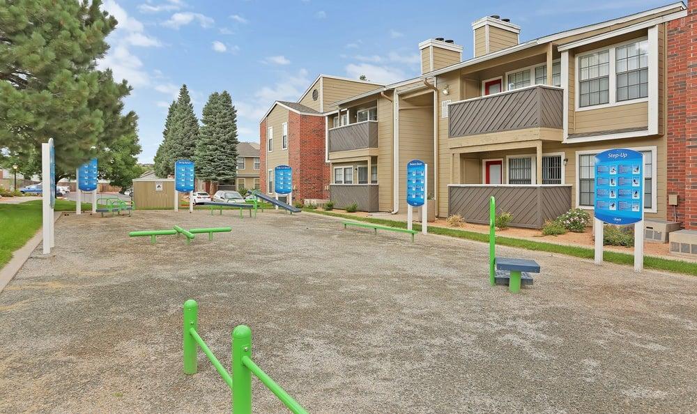 Dog park at apartments in Colorado Springs, Colorado