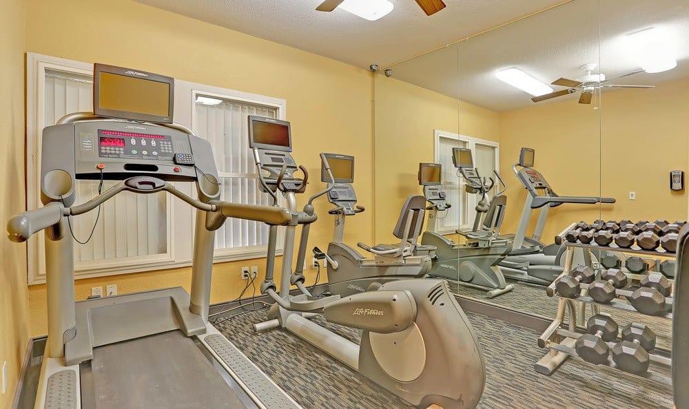 Fitness center at apartments in Colorado Springs, Colorado