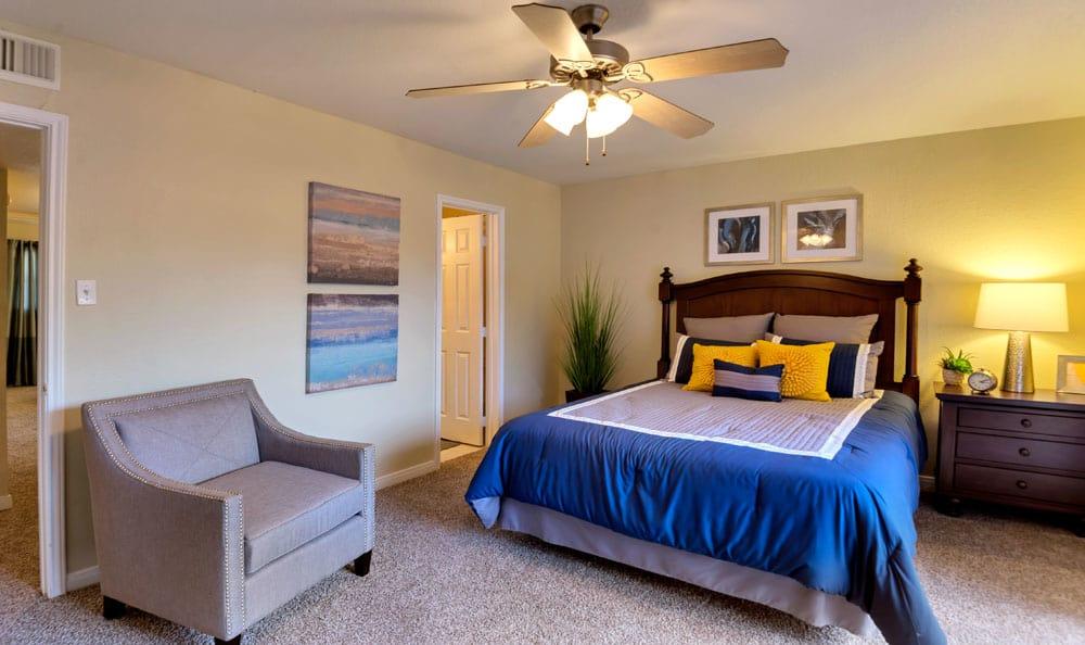 Spacious bedroom at apartments in Deer Park, Texas