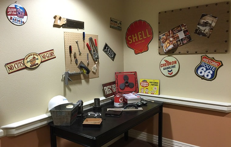 For handy seniors, we have a workbench and tools at New Dawn Memory Care senior living in Colorado Springs, CO