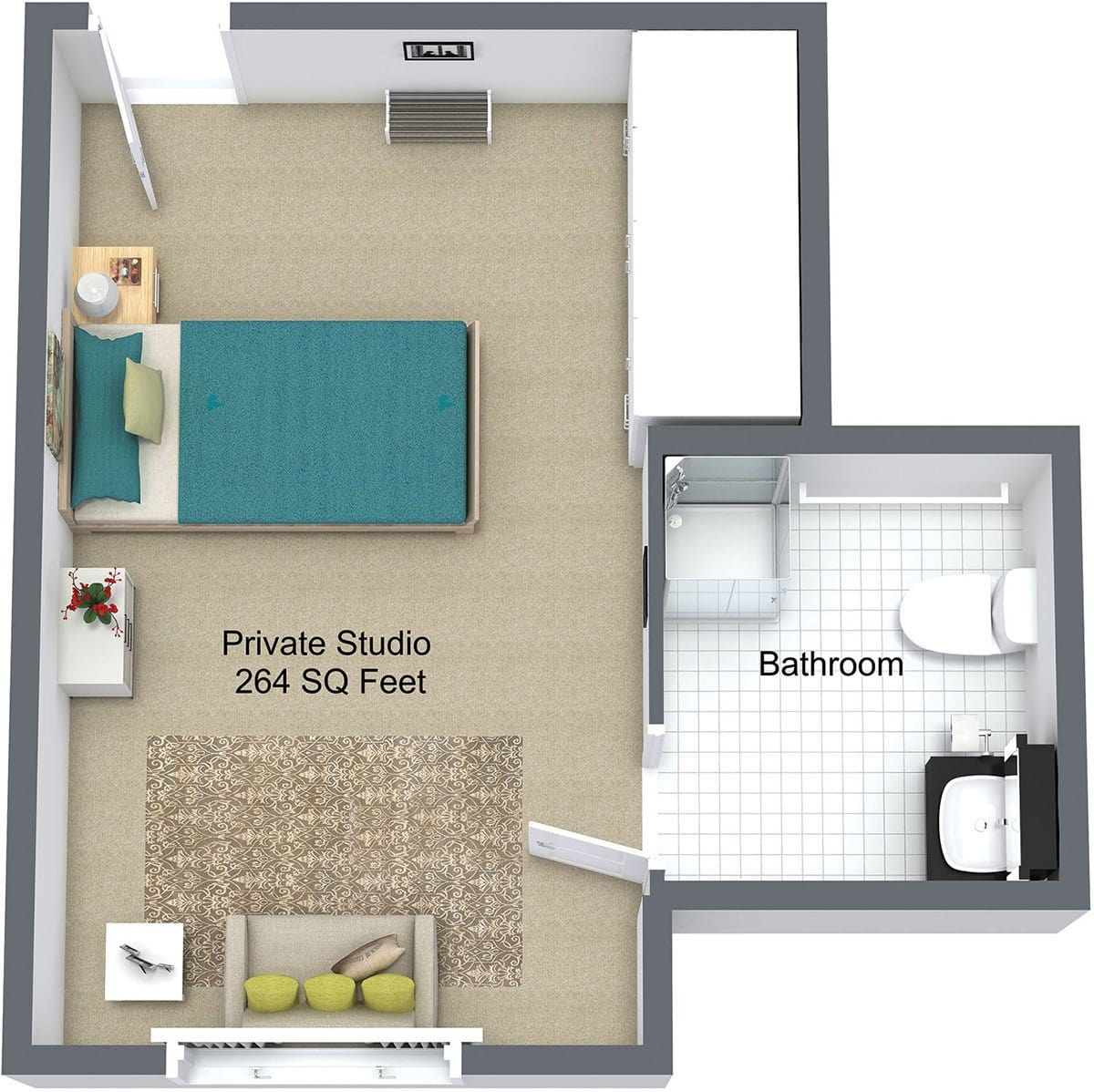 New Dawn Memory Care Floor Plan