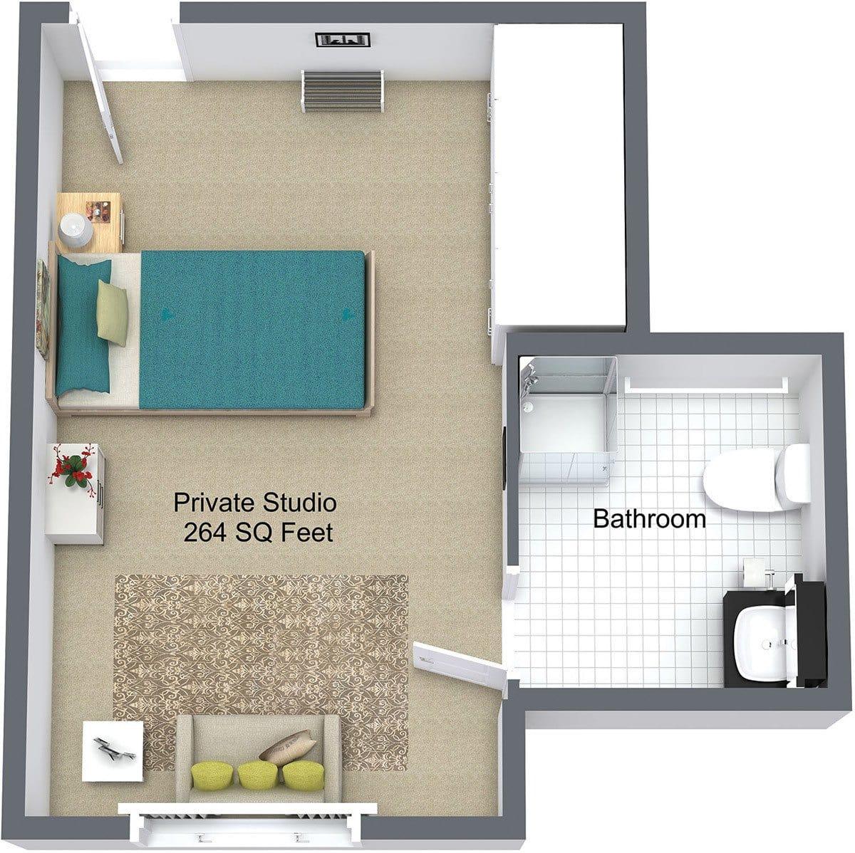 New Dawn Memory Care Floor Plan