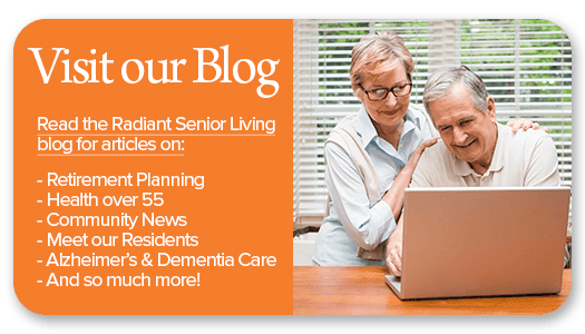 Connect with Radiant Senior Living via their blog