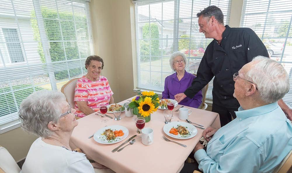 Healthy meals served daily at Ashley Pointe, senior living in Lake Stevens, WA