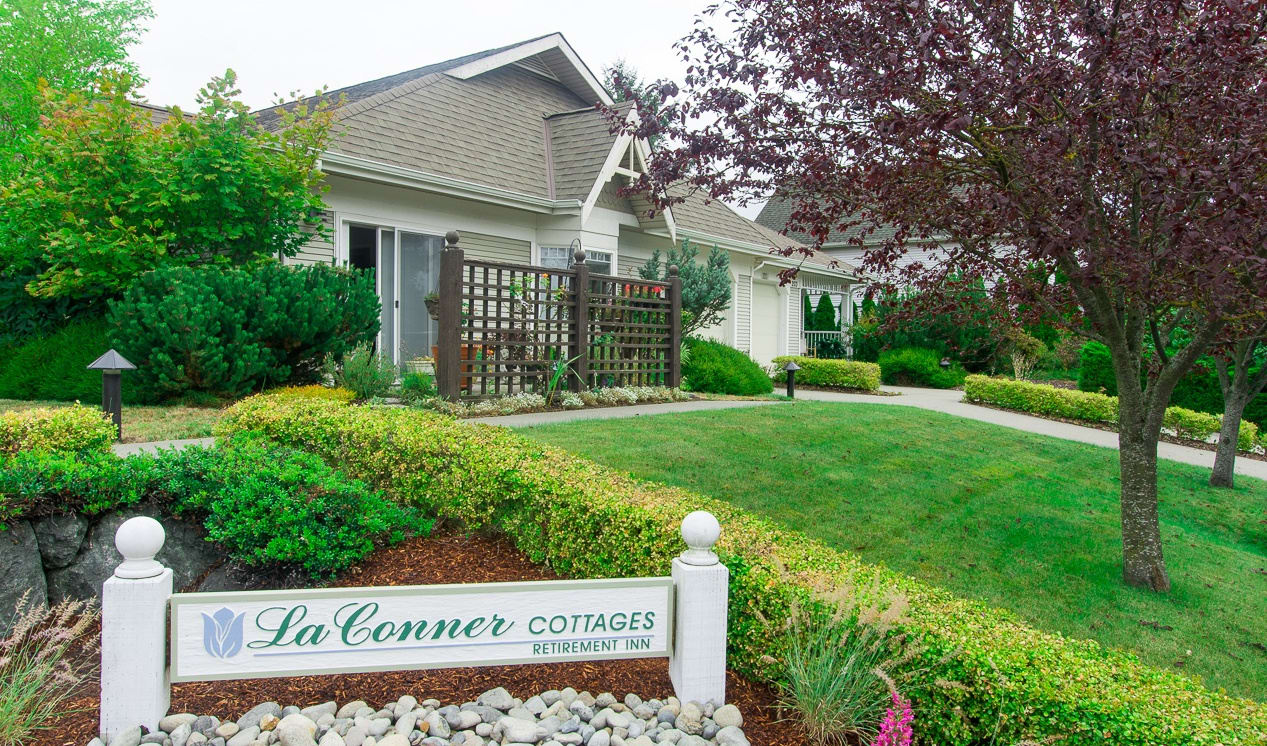 Exterior of La Conner Retirement Inn, senior living in La Conner, WA