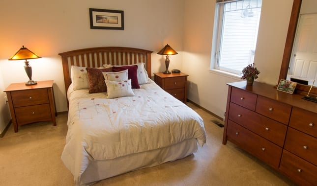 Bedroom at La Conner Retirement Inn, senior living in La Conner, WA