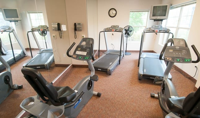 Fitness room at Pioneer Village, senior living in Jacksonville, OR