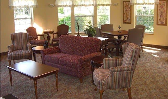 Living room at , senior living in Gresham, OR