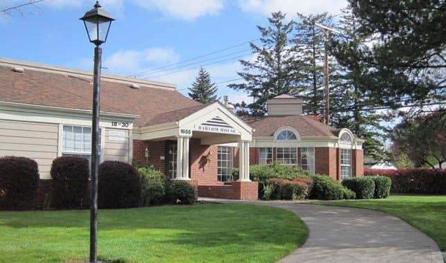 Exterior of Farmington Square Gresham, senior living in Gresham, OR