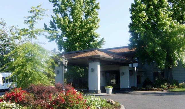 Entrance to Barnett Woods, senior living in Medford, OR