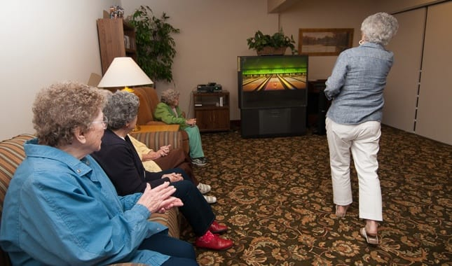Fun and games at Barnett Woods, senior living in Medford, OR