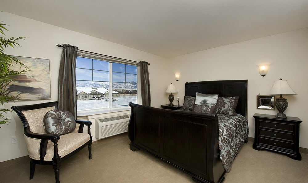 Bedroom With A View At Senior Living In Bozeman Montana
